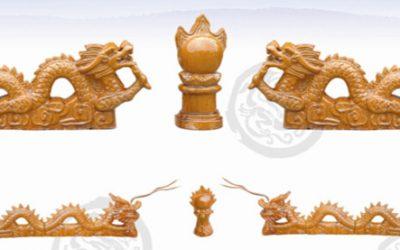 琉璃瓦:二龙戏珠
