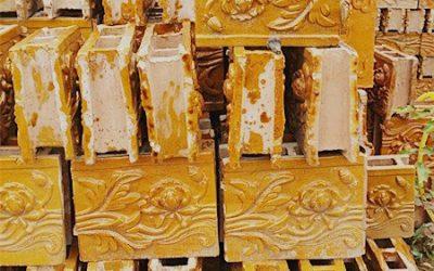 琉璃瓦:30cm高花脊