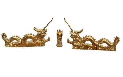 金瓦:二龙戏珠